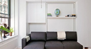 wall bed couch for small living room