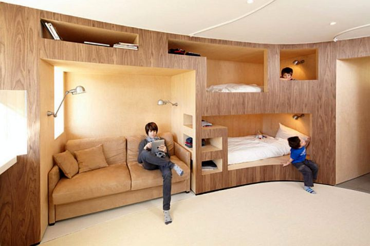 wall built in bunk bed for adults