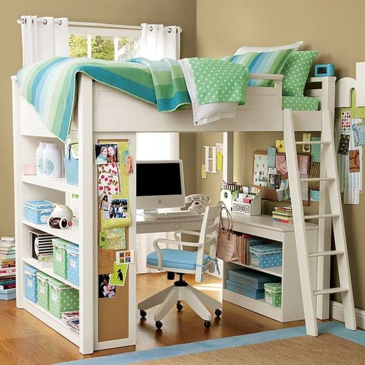 17 Spiffy White Loft Bed With Desk Designs