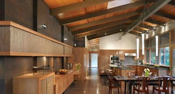 wide spaced exposed beam ceiling