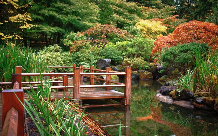 zigzag Japanese garden bridge plans