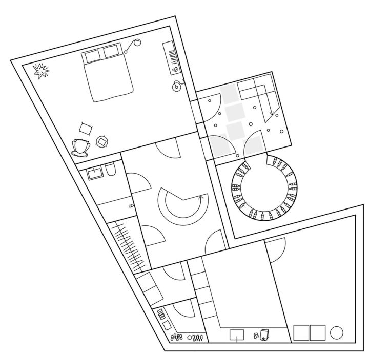 Molle By The Sea basement floor plan