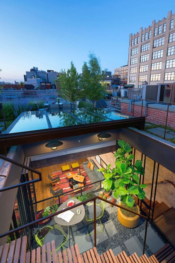 Tribeca Remodel rooftop area