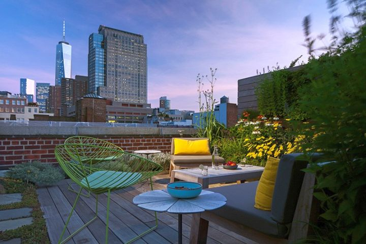 Tribeca Remodel rooftop at sunset
