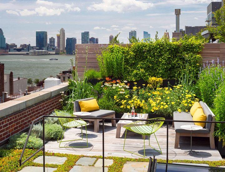 Tribeca Remodel rooftop garden