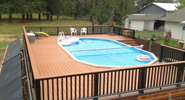 above ground circular wood pool deck