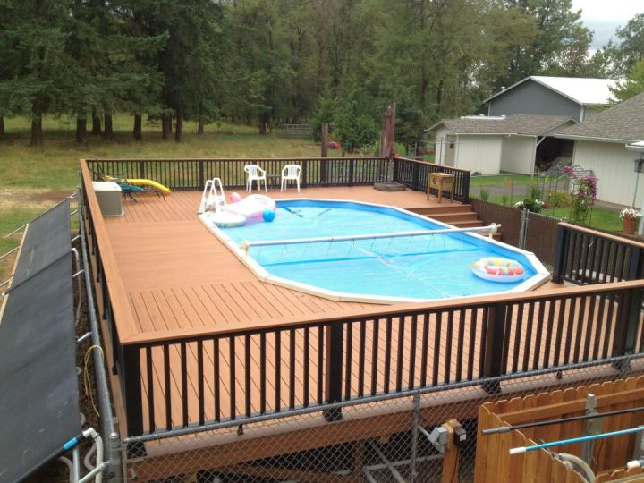 18 contemporary swimming pool wooden deck designs