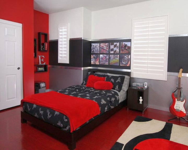 black and red bedroom ideas for boys