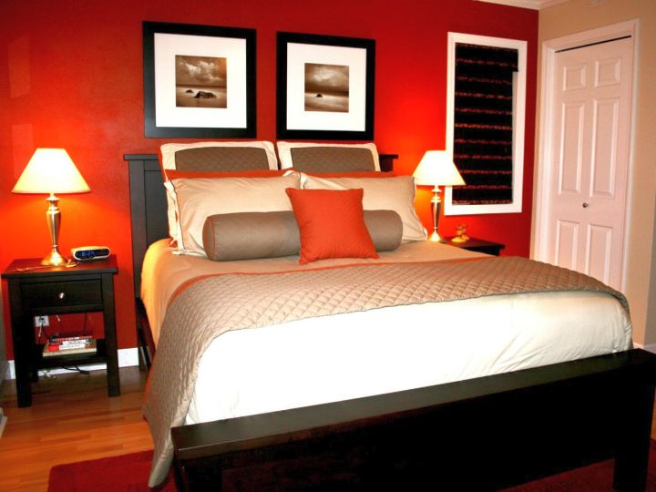 Black and red bedroom ideas for small rooms for Bedroom designs red and black