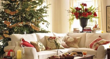 christmas room with antique coffee table