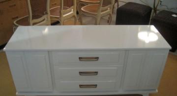 classy white lacquer credenza