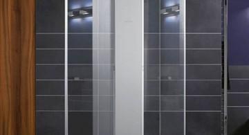 clear seamless modern glass door