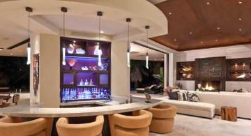 column like modern home bar design