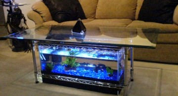 contemporary fish tank square table