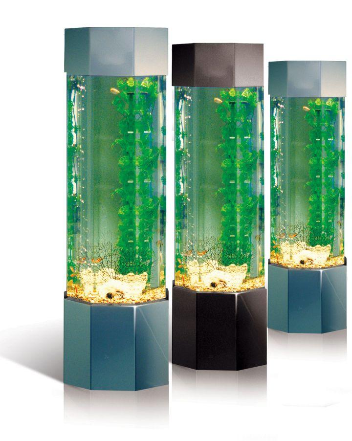 contemporary fish tank three columns