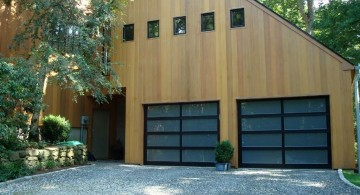 contemporary garage in a barn