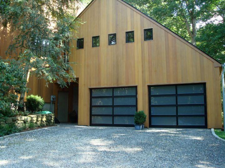 contemporary garage in a barn