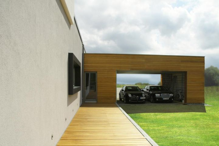 contemporary-garage-wood-tone. ...