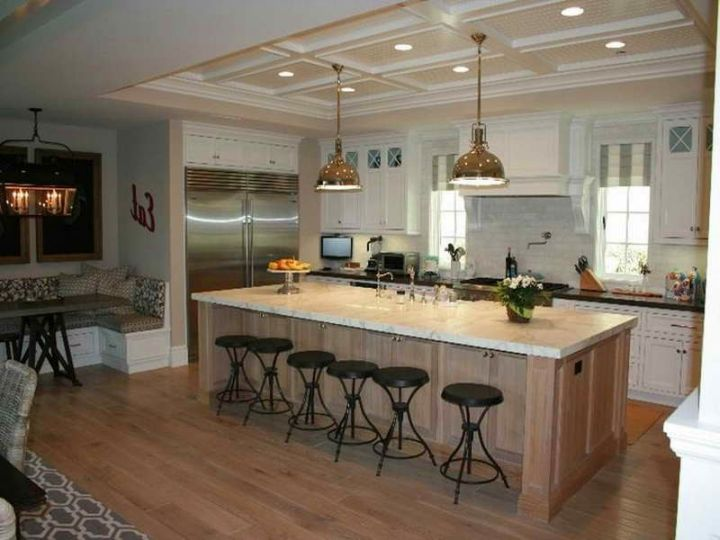 18 compact kitchen island with seating for six ideas - Large kitchen islands with seating and storage ...