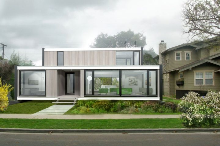 contemporary mobile homes in white