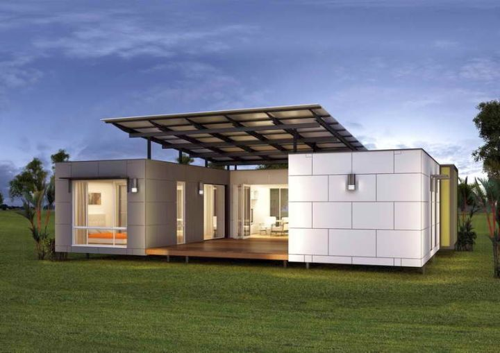 contemporary mobile homes with porch