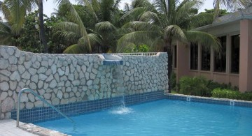 contemporary pool waterfall ideas