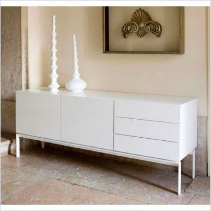 17 nifty white lacquer credenza designs What can i put on my sideboard