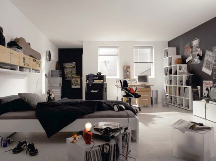 cool ideas for bedroom in monochrome