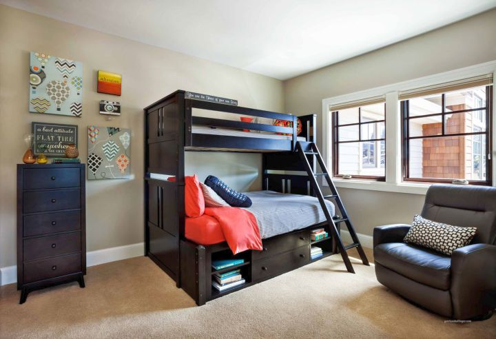 cool ideas for bedroom with adult size bunk beds