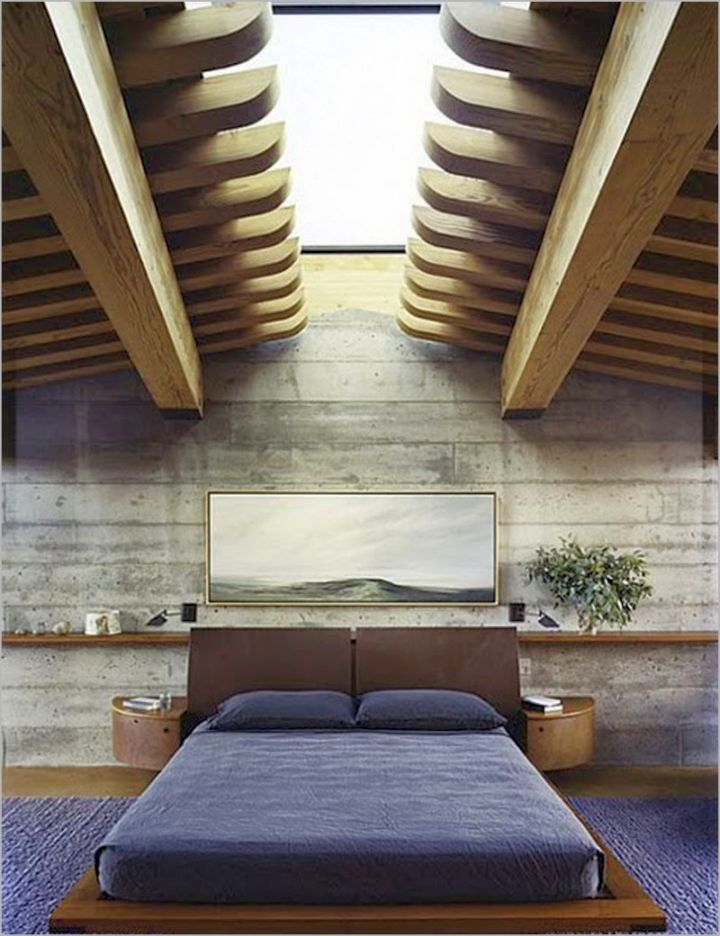 cool ideas for bedroom with unique ceiling