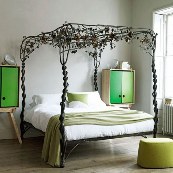 cool ideas for bedroom with unique four poster - Cool Themes For Bedrooms