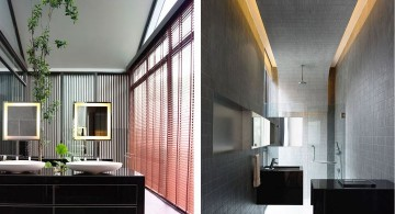detached modern house bathroom from both sides