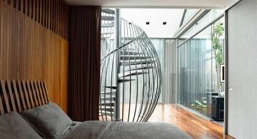 detached modern house bedroom