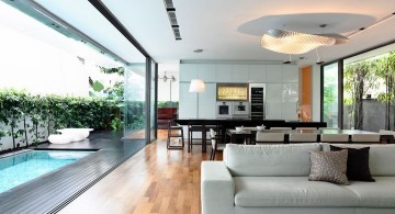 detached modern house living room