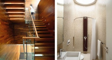 detached modern house shower and staircase