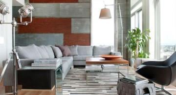 eclectic rooms with modern rug