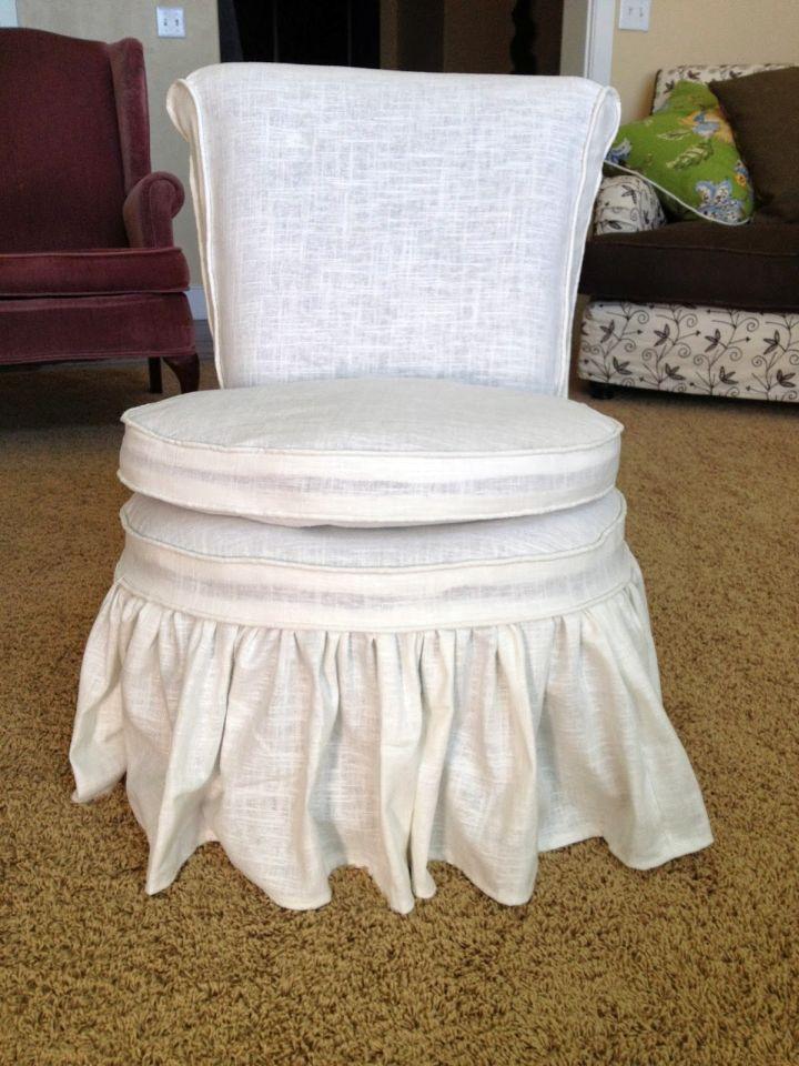 elegant skirted vanity stool