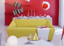featured image of bright and contemporary red wall accent