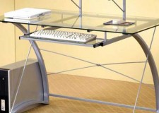 featured image of clear office desk with curved legs