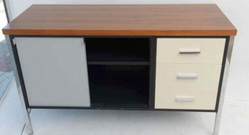 featured image of credenza with metal legs and drawers