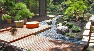 featured image of oriental garden design for side yard with wood pathway