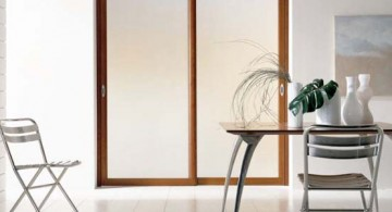 featured image of wood lined modern glass door