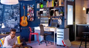 funky bedroom ideas in blue