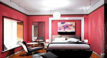funky bedroom ideas in red and black