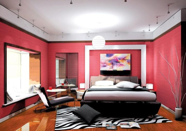 Funky bedroom ideas in red and black for Funky bedroom designs