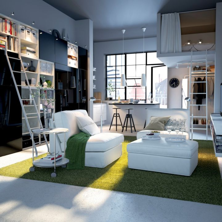 funky bedroom ideas in small loft apartment