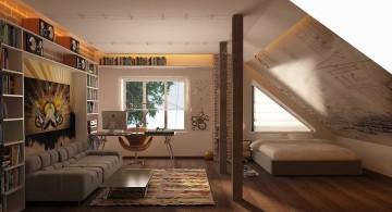 funky bedroom ideas in the loft