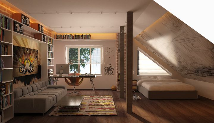 funky bedroom ideas in the loft