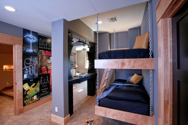 Funky Bedroom Ideas bunk bedroom ideas. find this pin and more on home decor quad bunk