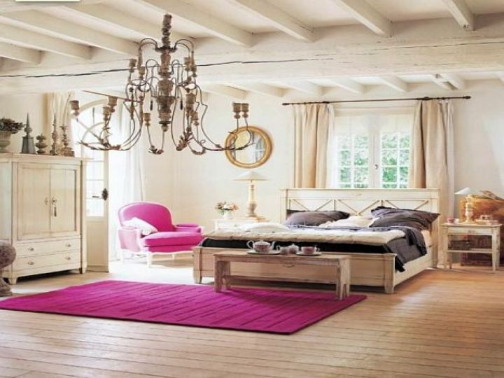 funky bedroom ideas with large chandelier